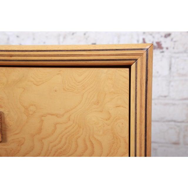 Milo Baughman Style Burl Wood Long Dresser or Credenza by Henredon For Sale - Image 9 of 13