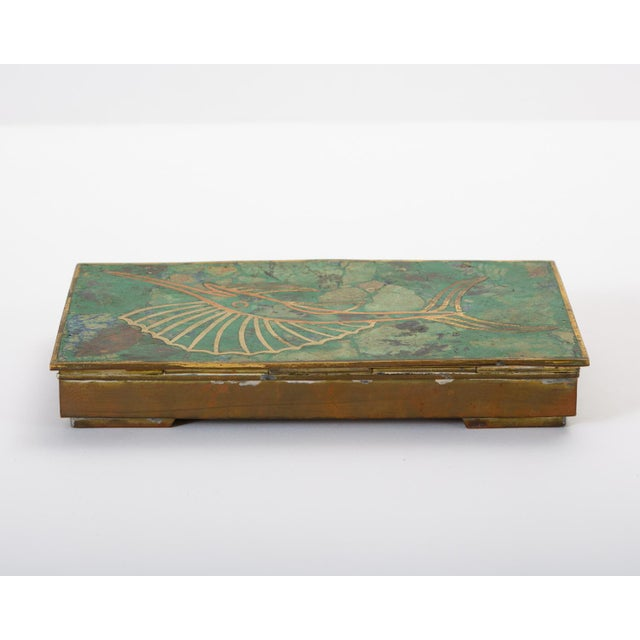 Mexican Brass Box With Resin Inlay Fish For Sale In Los Angeles - Image 6 of 12