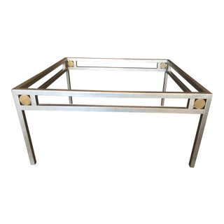 1995 Art Deco Michael Heltzer Square Coffee Table For Sale