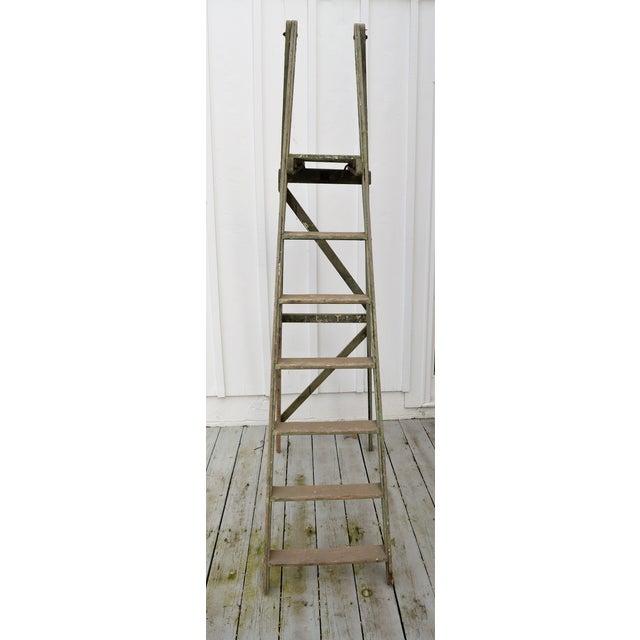 Wood 1940s Vintage Garden Ladder For Sale - Image 7 of 8