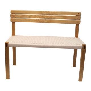 Modern Welsch Ash & Oak Bench For Sale