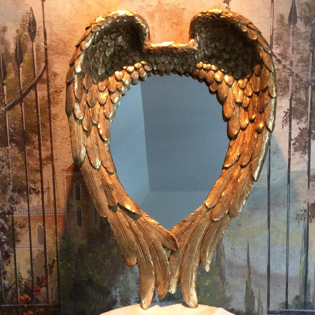 Gilded Angel Wings Mirror - Image 4 of 8