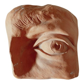1970s Vintage Terracotta Eye Sculpture For Sale