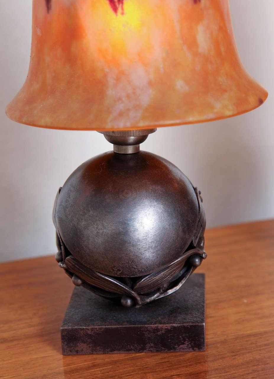 Pair Of Edgar Brandt U0026 Daum Art Deco Table Lamps   Image 6 Of 10