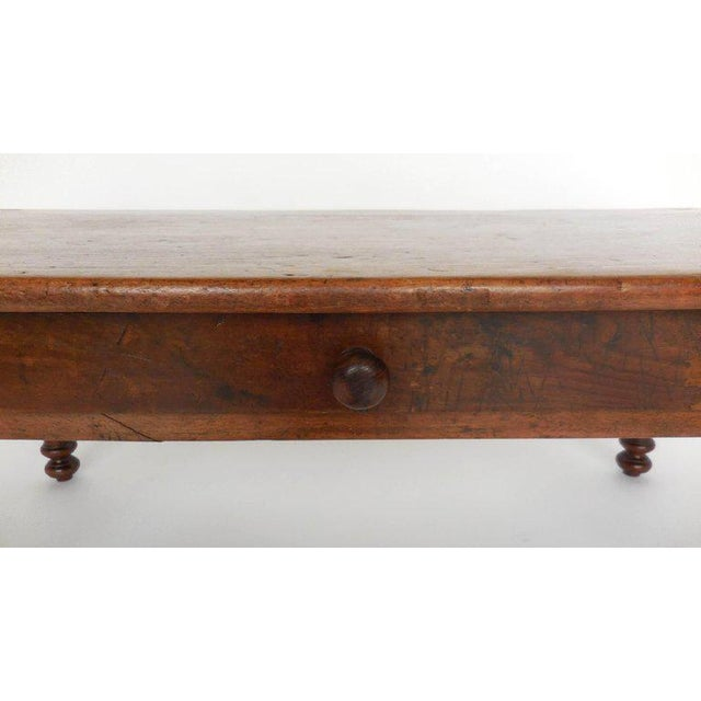 Antique Guatemalan Wooden Coffee Table With Turned Legs For Sale - Image 4 of 9