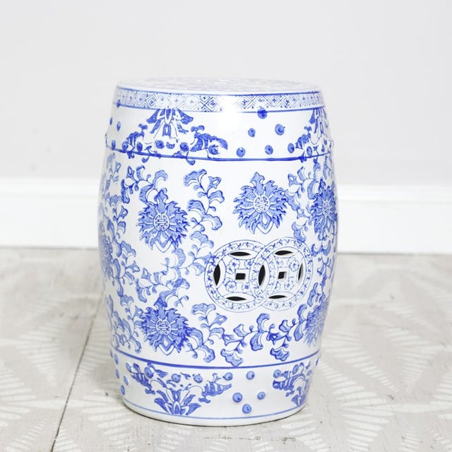 This asian inspired garden seat makes for a great end table, additional seating, or a fun decorative accessory! The...