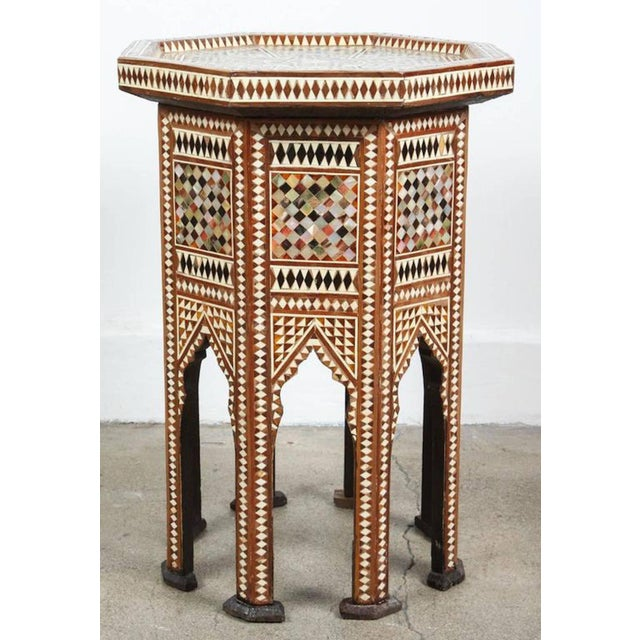 Syrian Octagonal Table Inlay with Mother-Of-Pearl For Sale - Image 4 of 7
