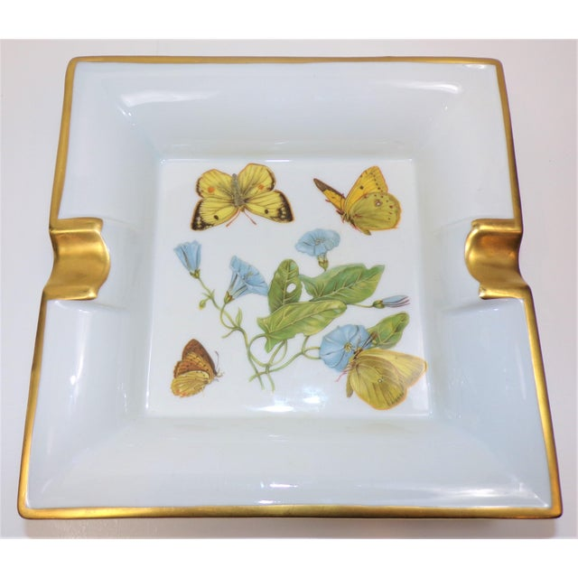 Vintage Hermes Style Butterfly Ashtray With Suede Bottom For Sale - Image 12 of 13