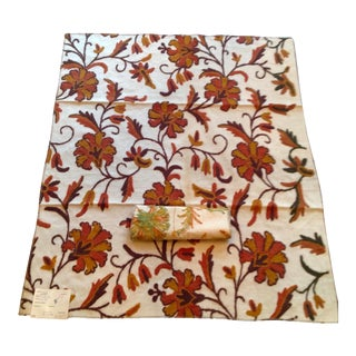 Vintage Crewel Fabrics From Top Textile Houses For Sale