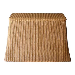 1970s Wicker Draped Console For Sale