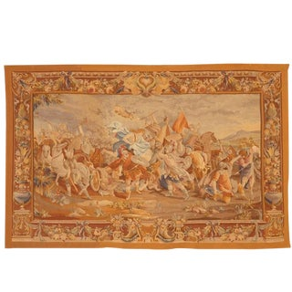 Antique 19th Century French Aubusson Tapestry For Sale