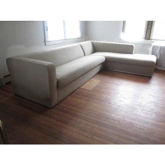 Minimalism Antonio Citterio for B&b Italia Sectional Sofa & Large Ottoman For Sale - Image 3 of 13