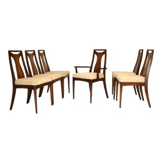 1950s Walnut Dining Chairs - Set of 6 For Sale