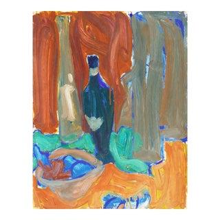 'Still Life' by Victor Di Gesu; 1968, Paris, Louvre, Académie Chaumière, California Post-Impressionist, Lacma For Sale