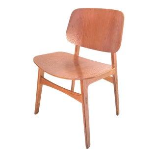 1940s Mid Century Modern Teak Dining Chair Model 155 by Børge Mogensen for Søborg Møbelfabrik For Sale