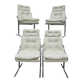 Jerry Johnson Style Dining Chairs - Set of 4 For Sale