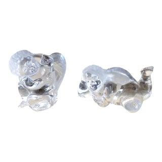 Daum France Crystal Cherubs- a Pair For Sale