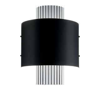 Art Deco Style Polished Aluminium Wall Light For Sale
