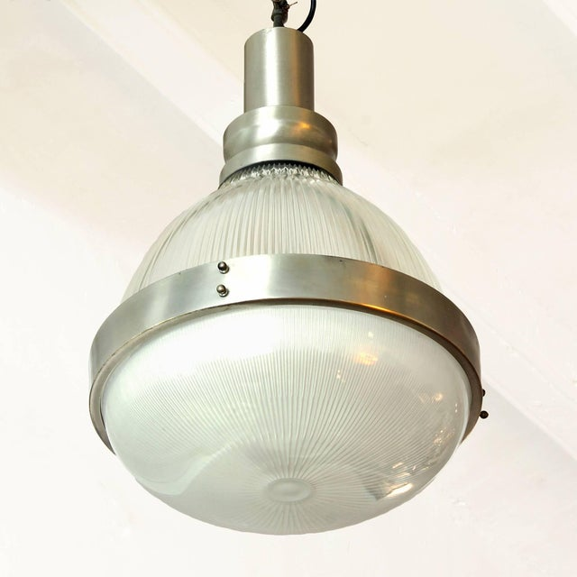 Artemide 1960´s Lantern by Sergio Mazza for Artemide, nickel-plated brass, glass-Italy For Sale - Image 4 of 7