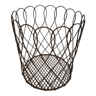 1960s French Wireware Cachepot For Sale