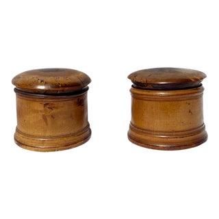 Antique Burl Wood Boxes - a Pair For Sale