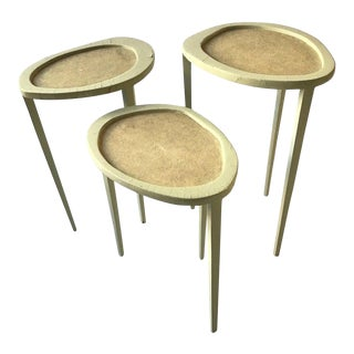 1 R & Y Augousti Organic Shaped Shagreen Drink Table For Sale