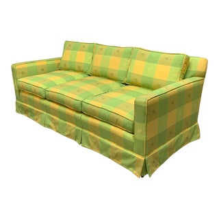 Vintage Plaid Sofa in the Style of Dorothy Draper For Sale