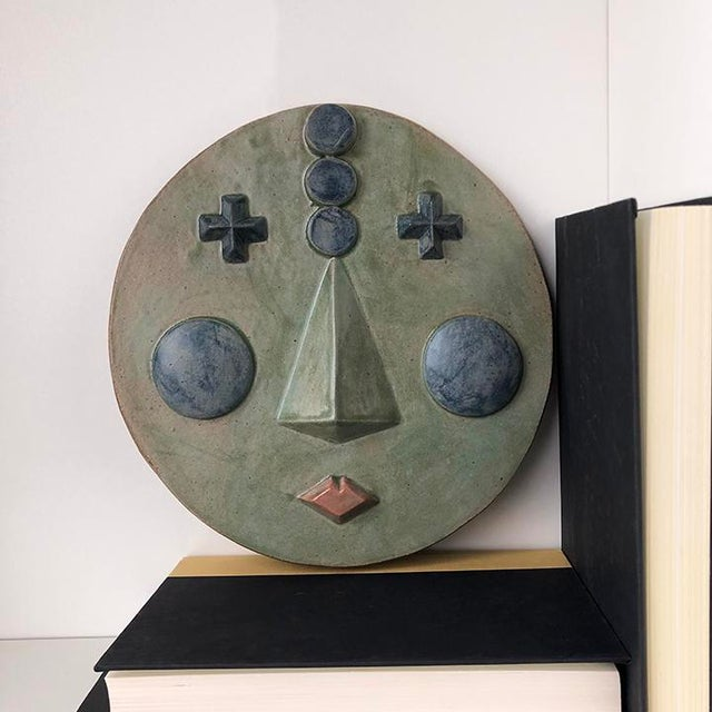 Contemporary 2020 Contemporary Ceramic Wall Hanging 'Suri' by Keavy Murphree For Sale - Image 3 of 5