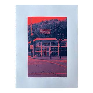 Pop Art Hiroshi Ariyama Serigraph, 'Chicago and Main' For Sale
