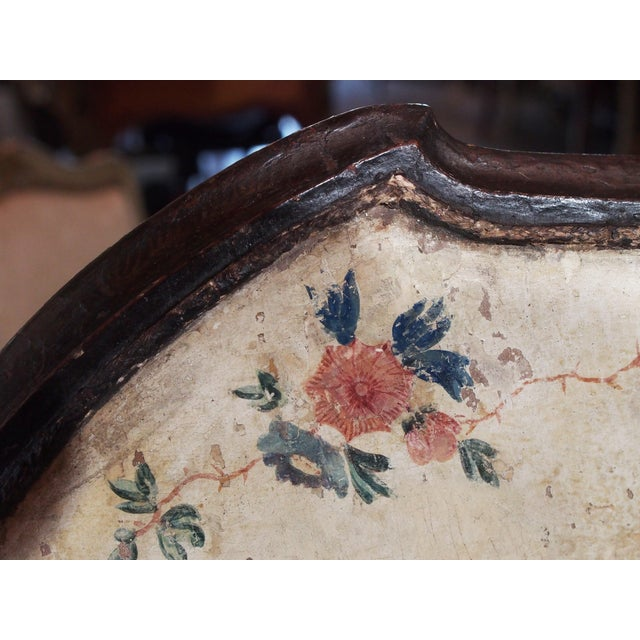 Wood 18th Century Italian Chinoiserie Architectural Panel For Sale - Image 7 of 8
