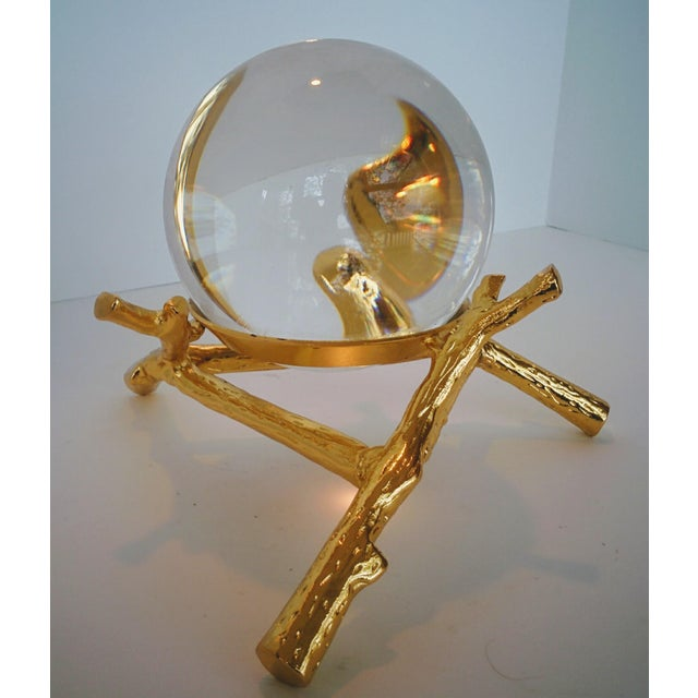 Crystal Orb With Gold Base - Image 5 of 9