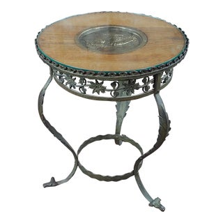 Early 20th Century Antique Art Nouveau Bronze Side Table For Sale