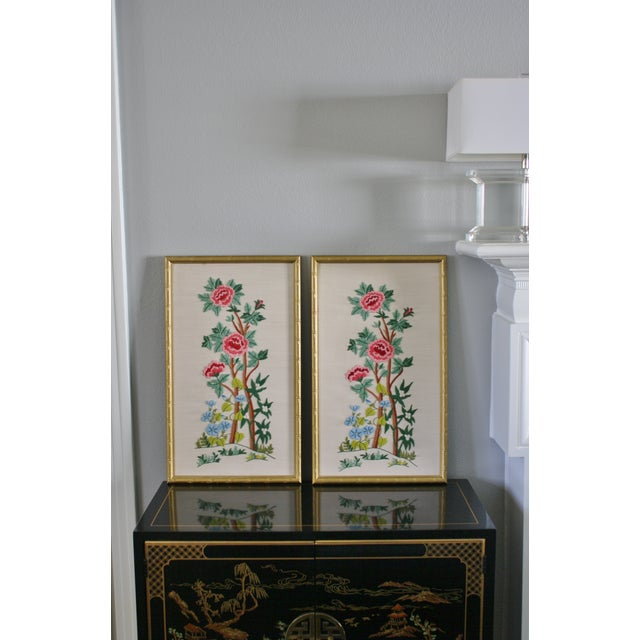 Vintage Needlepoint Pictures - Pair - Image 3 of 7
