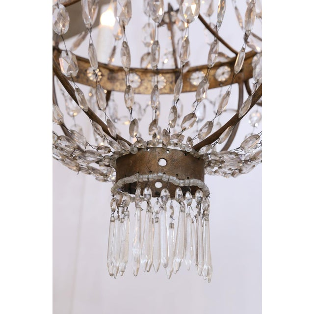 19th Century Neoclassical Gilt-Iron Chandelier For Sale - Image 9 of 13