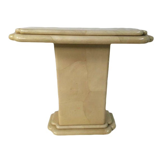 1970s Vintage Jimeco ltda Goat Skin Console Table For Sale