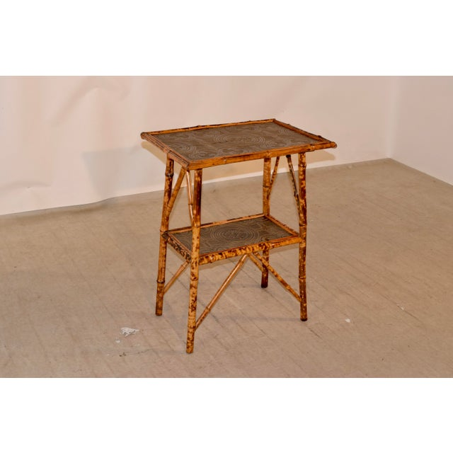 Brown 19th C Bamboo Side Table For Sale - Image 8 of 8