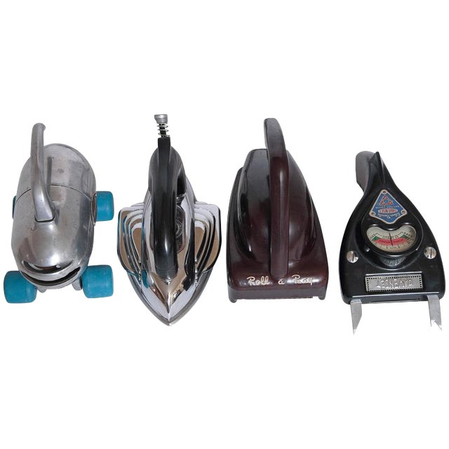Machine Age Industrial Design Streamline Objects IRON SOLD For Sale