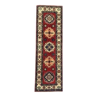 Handmade Kazak Runner Rug - 2′6″ × 6′7″