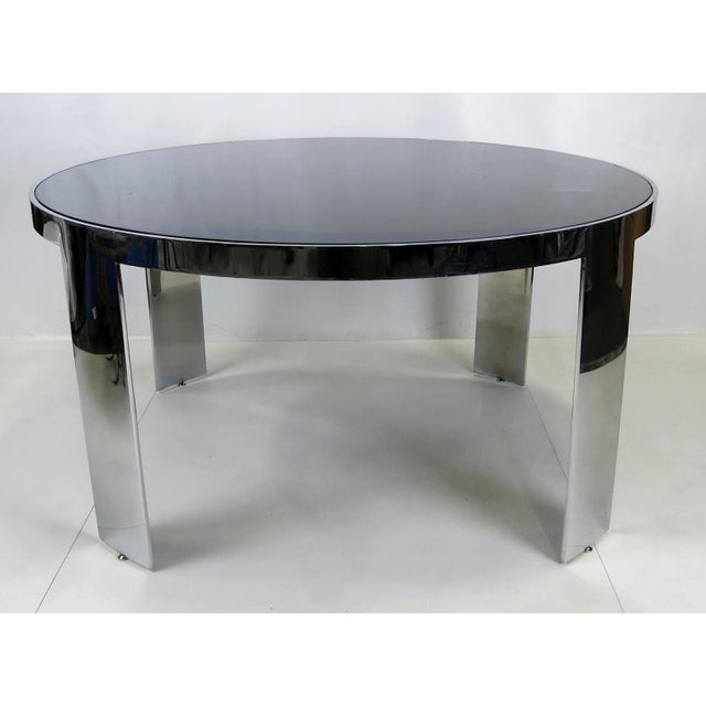 Large Scale Dining or Center Table with inset Polyester lacquer top from the Custom Collection by Pace. The table is...