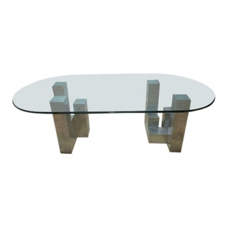 Paul Mayen Habitat Cityscape Aluminum Floating Dining Room Table For Sale