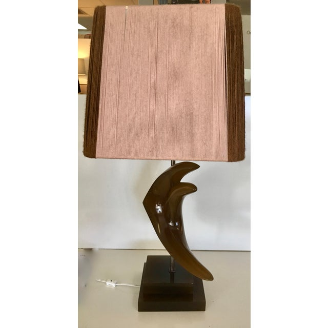 Mid-Century String Shade Table Lamp For Sale - Image 4 of 6