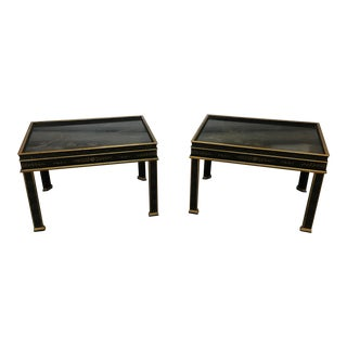 20th Century Chinoiserie Drexel Heritage Side Tables - a Pair For Sale