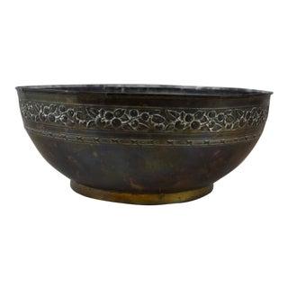 Antique Copper Garden Bowl