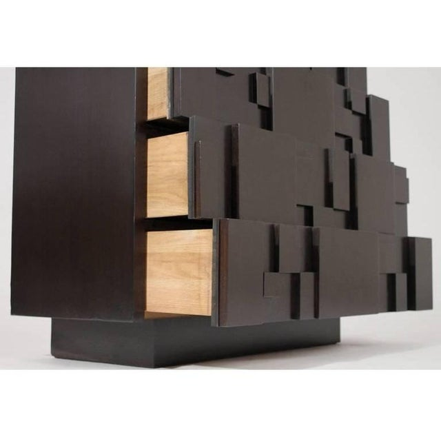 Lacquered Brutalist Tall Cabinet or Chest by Lane Furniture For Sale In Dallas - Image 6 of 11