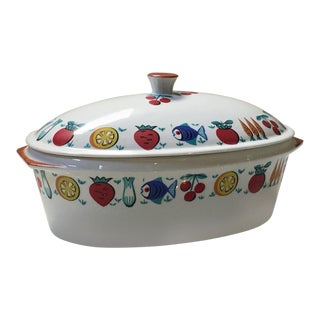 1960s Vintage Covered Casserole Dish For Sale