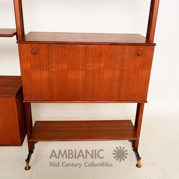 Mid-Century Modern Italian Wall Unit For Sale - Image 4 of 6