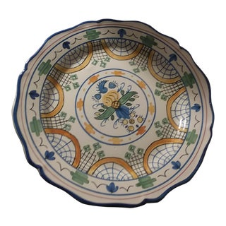 20th Century French Faience Decorative Plate For Sale