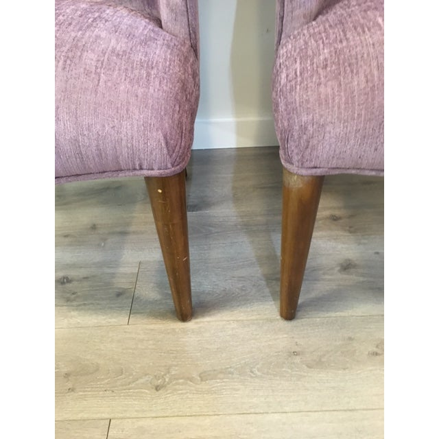 Pair Purple Donghia Chairs For Sale In New York - Image 6 of 7