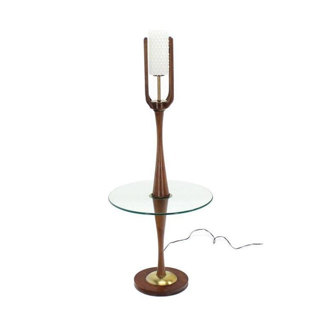 Vintage Mid-Century Sculptural Floor Lamp & Attached Table For Sale - Image 4 of 11