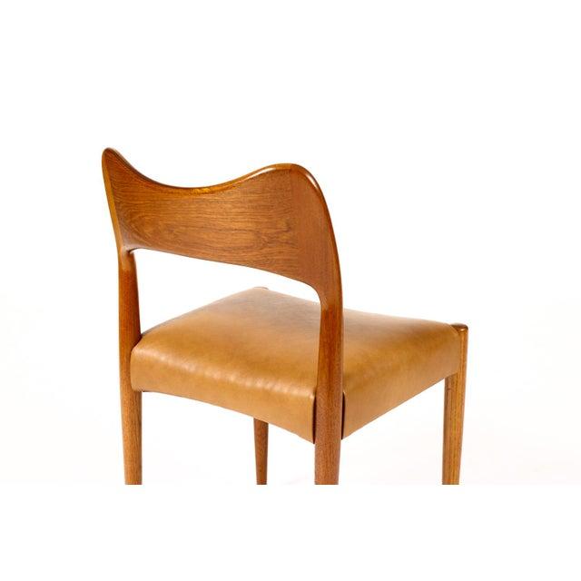 Vintage Mid Century Danish a.h. Olsen for Mogens Kold Teak Dining Chairs- Set of 6 For Sale - Image 9 of 10
